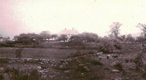 Earliest known photo of the Nathanael Greene Homestead, estimated 1899