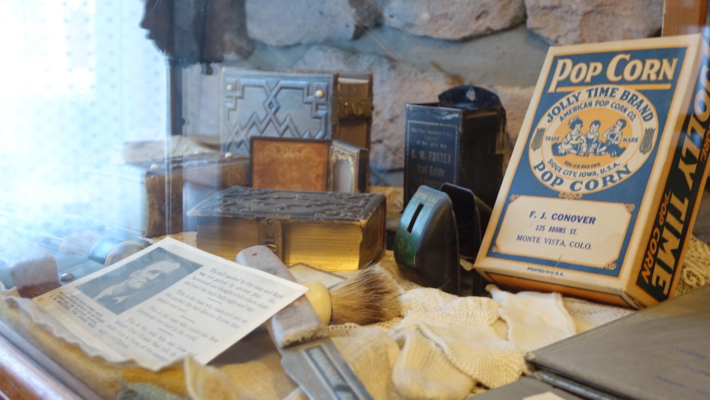 Monte Vista Historical Society display