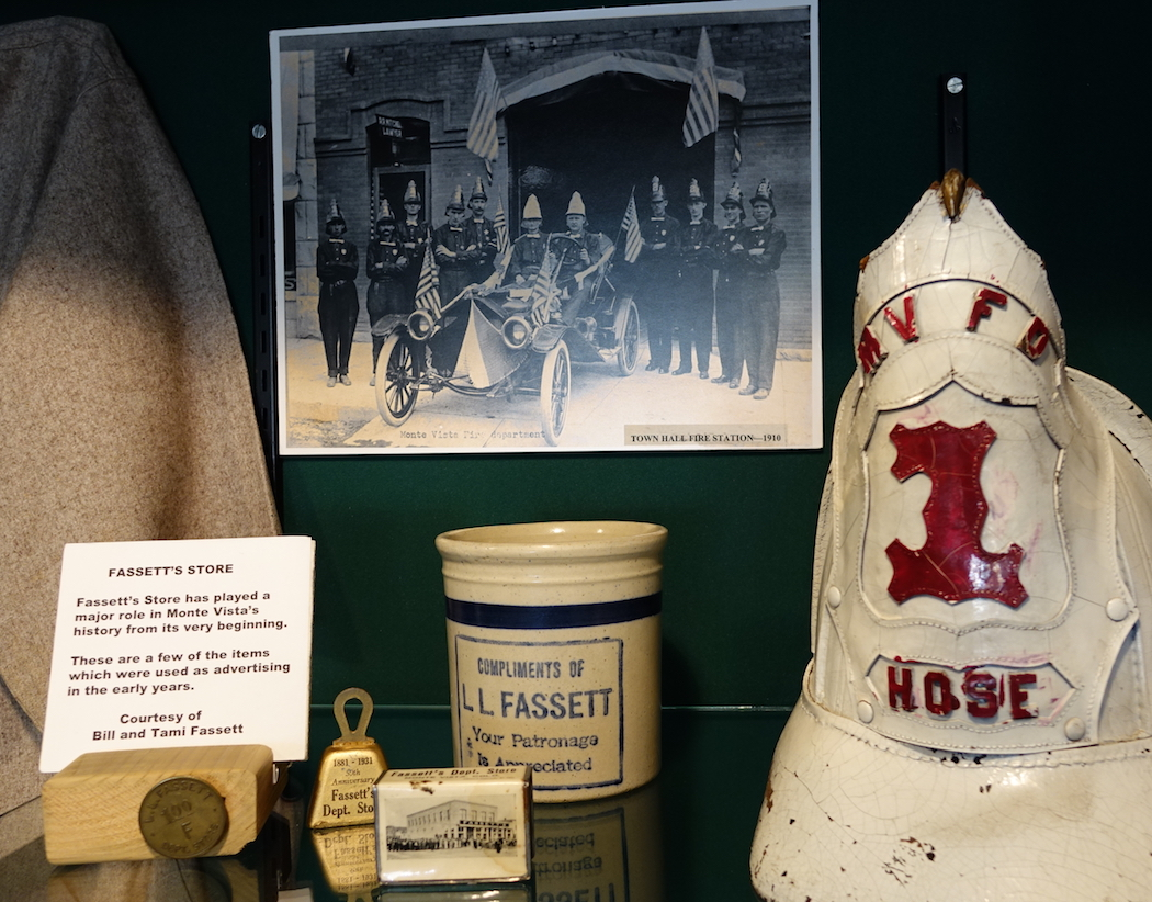 Firehouse artifacts from Monte Vista, Colorado