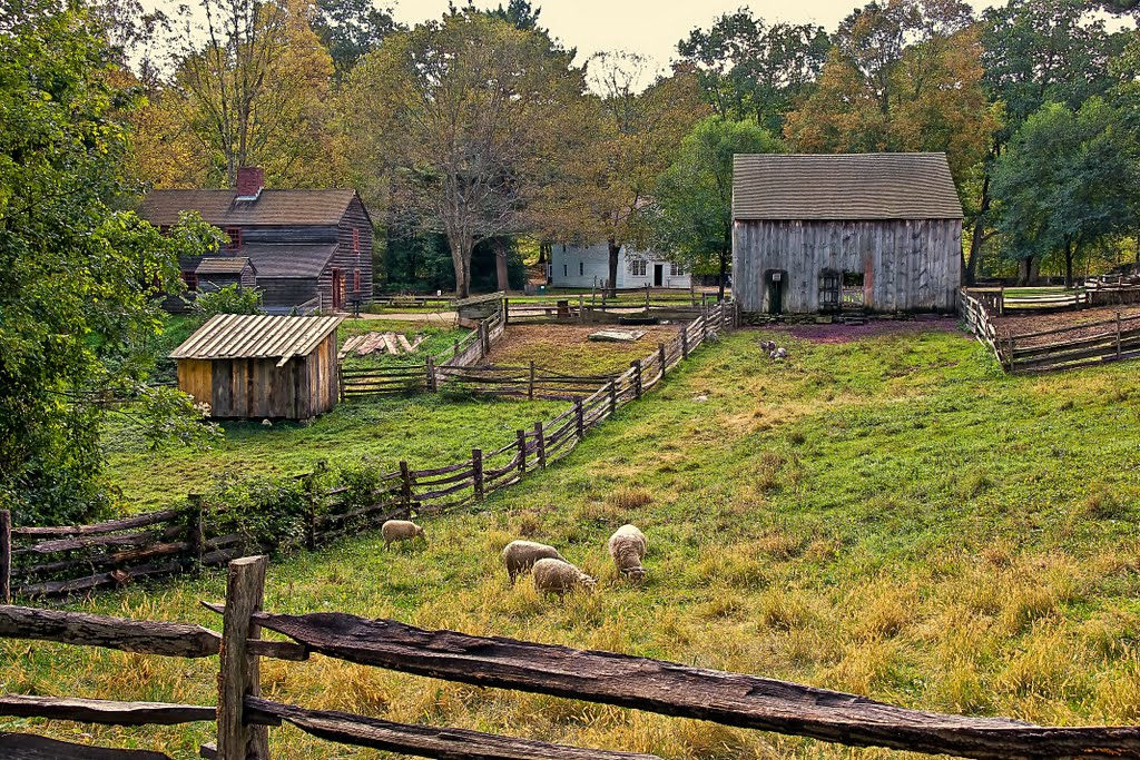 The village features a working farm. Image by C. Phillip Houck, 2011.