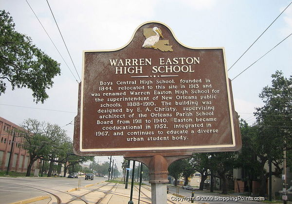The Historical Marker in front of the school