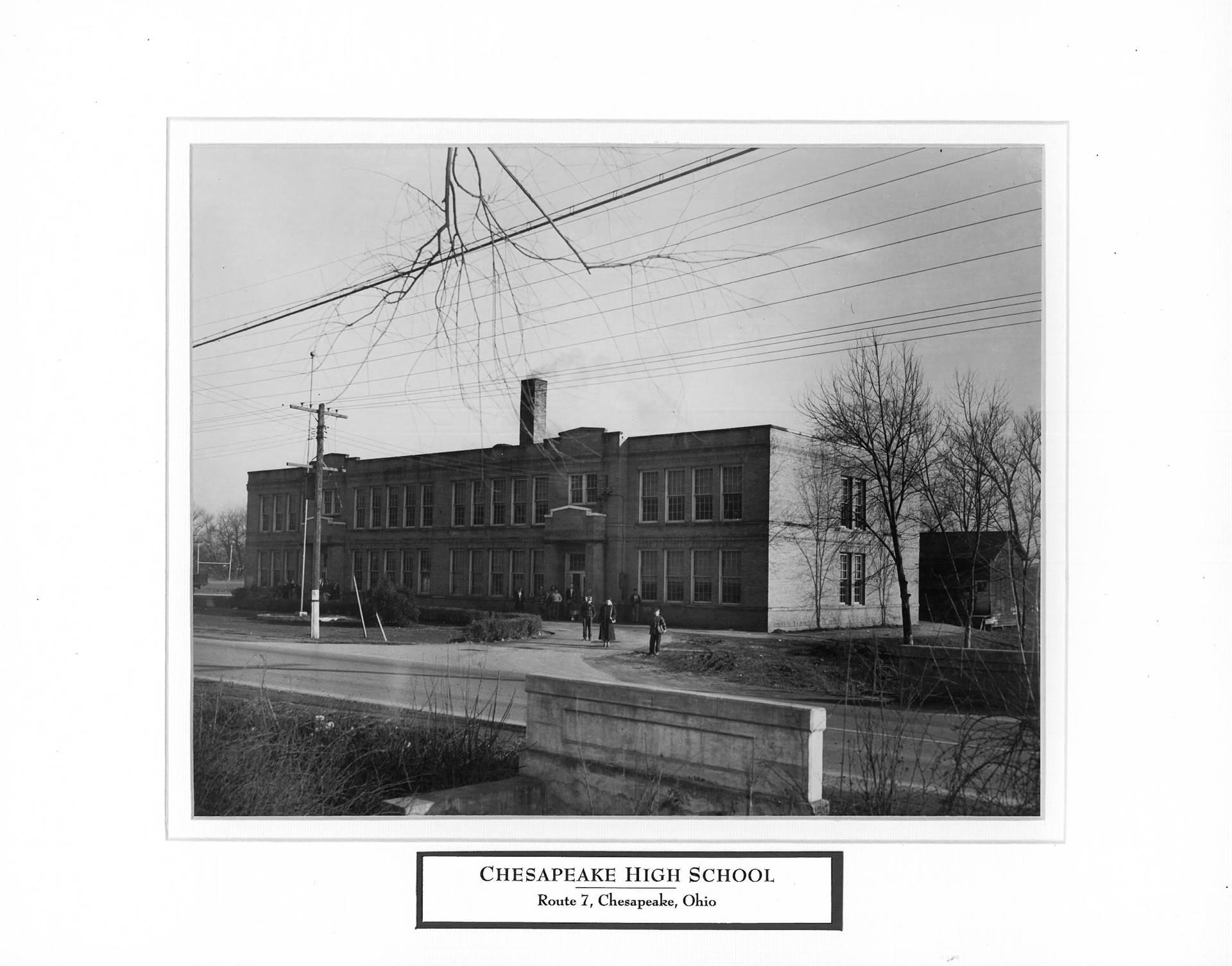 Chesapeake High School in 1925