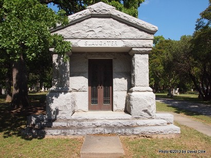 Slaughter's mausoleum. Photo: www.texasescapes.com