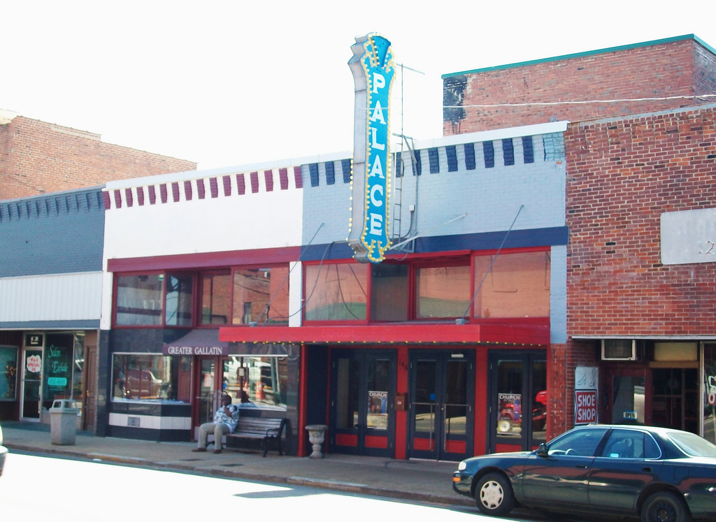 Exterior of the Palace Theatre.