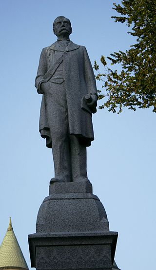This statue was dedicated in 1905, four years after Rogers died in office from pneumonia.