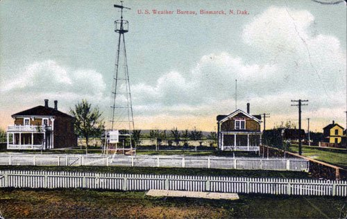 This postcard shows what the site looked like when it operated as a weather station.