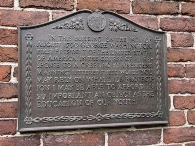 University Hall Historic Marker (image from Historic Markers Database)