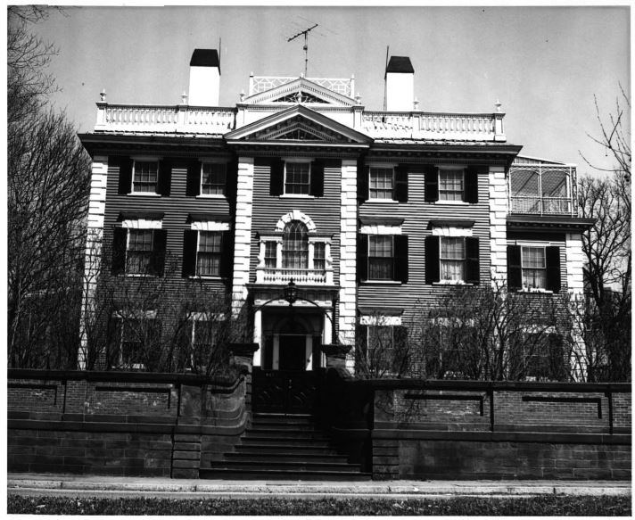 Nightingale-Brown House c. 1960-1970 (image from the National Register of Historic Places)