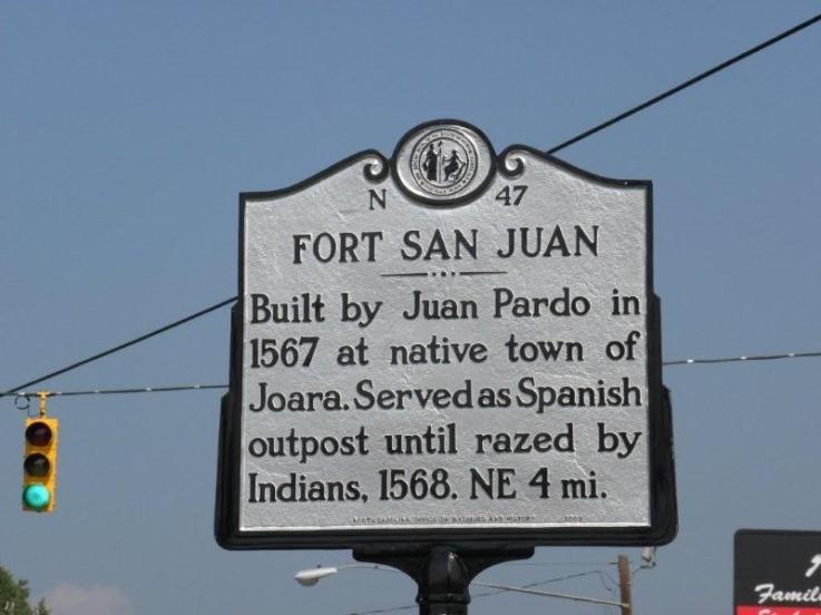 Fort San Juan Historic Marker