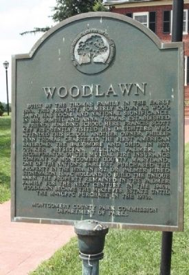 Woodlawn Historic Marker (image from Historic Markers Database)