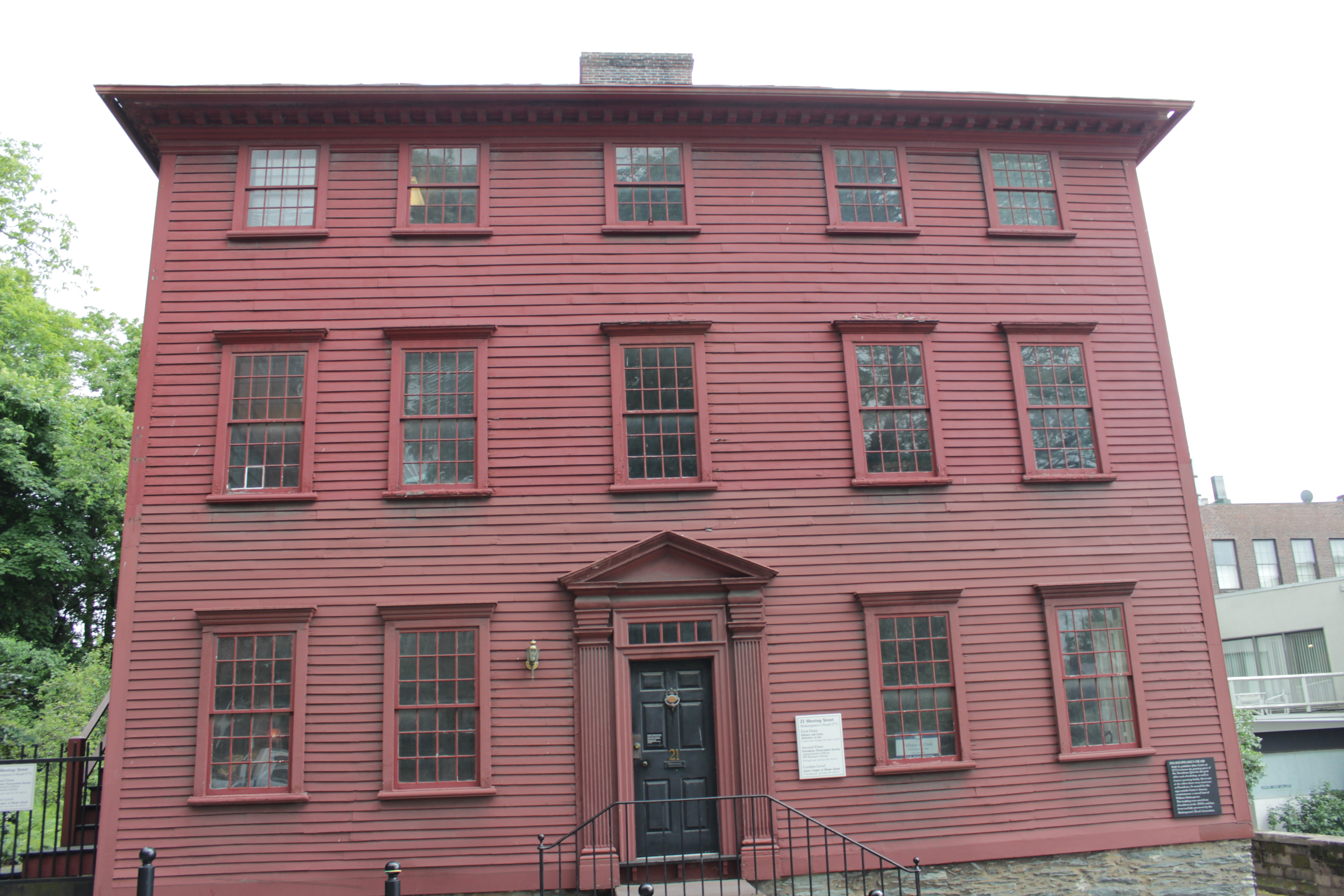 Shakespeare's Head building, also known as the John Carter House (image from Historic Markers Database)
