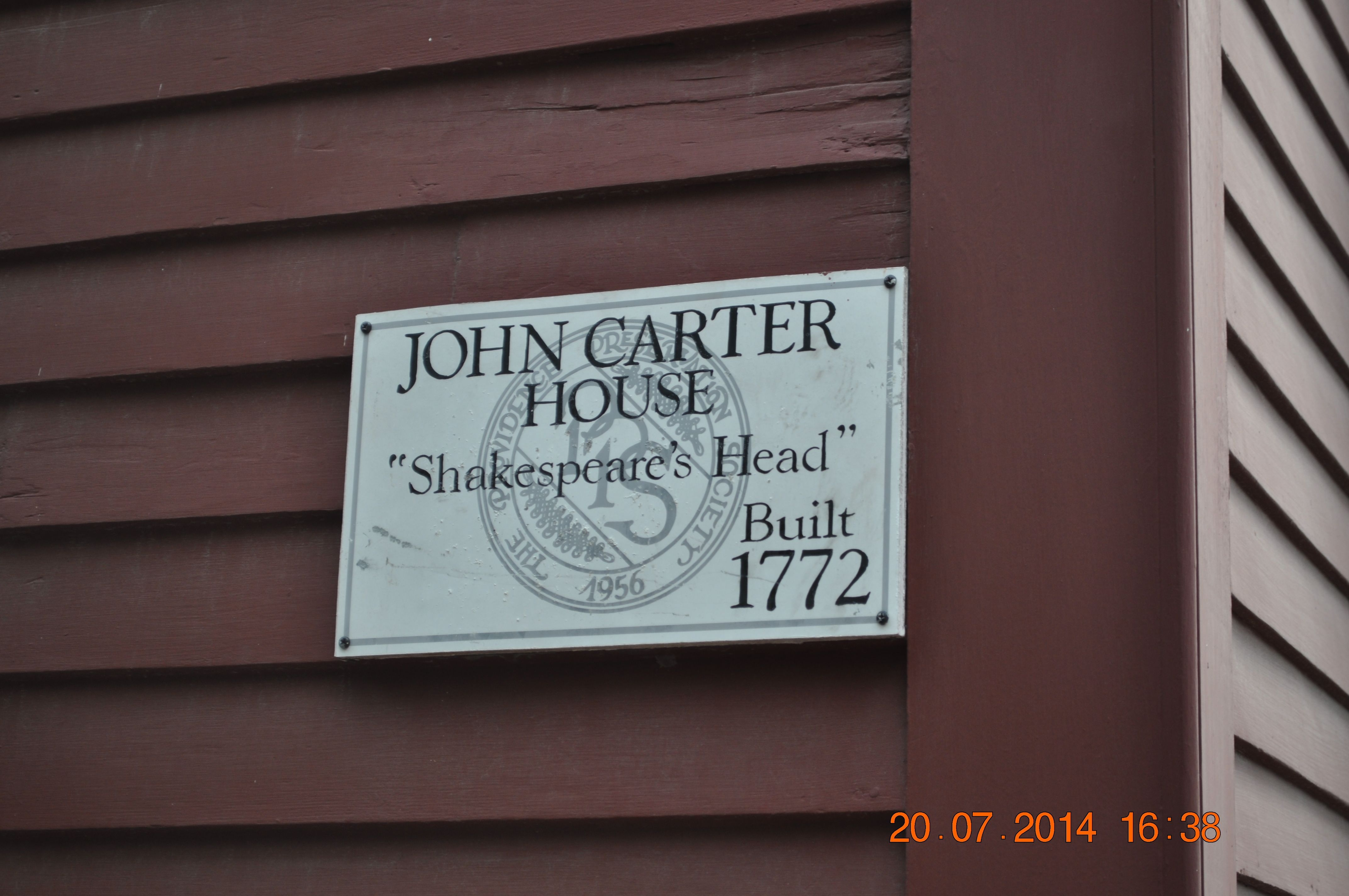 Shakespeare's Head sign (image from Historic Markers Database)