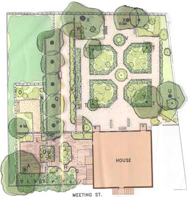 Plan view of Shakespeare's Head Colonial garden (image from Providence Preservation Society of Rhode Island)