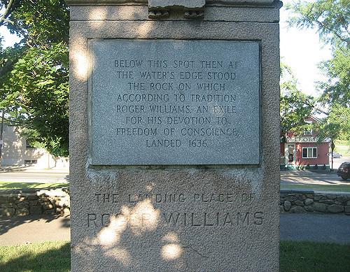 Inscription on the Landing Place Monument