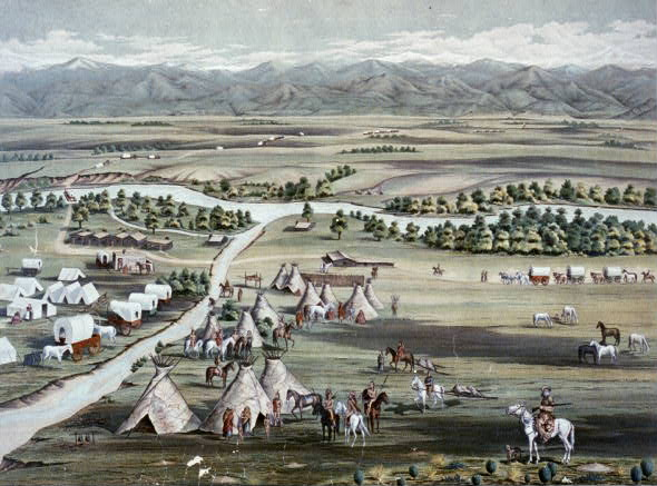 Painting of Denver in 1859