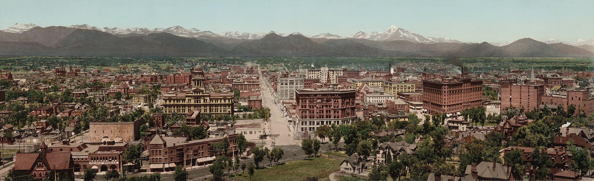 Panorama of Denver circa 1898
