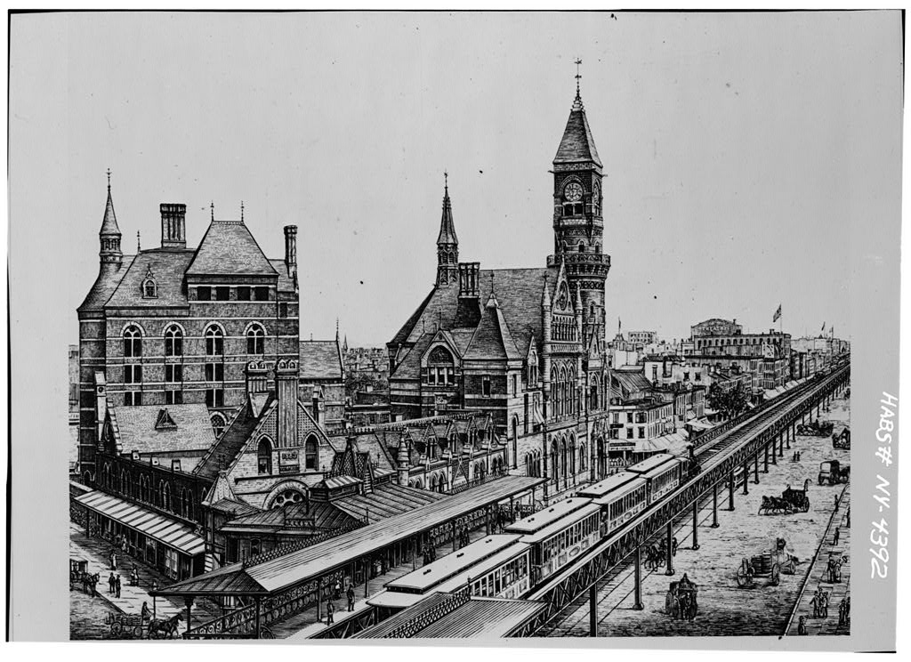The Third District Judicial Courthouse ca. 1880 (New York Historical Society, via the Library of Congress)