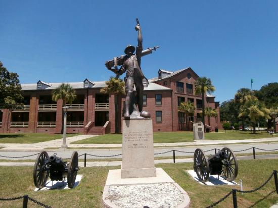 """Iron Mike"" stands still as one of the symbols for United States Marine Corps Recruit Depot, where the journey from civilian to United States Marine is initiated."