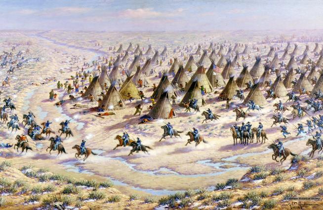 Robert Lindneaux's portrayal of the Sand Creek Massacre