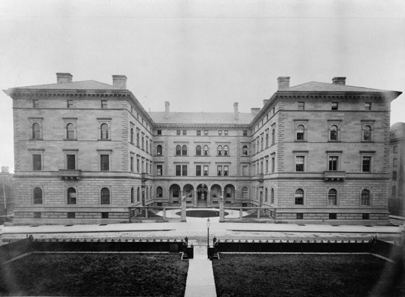 A historic photo of the property from the early 20th century