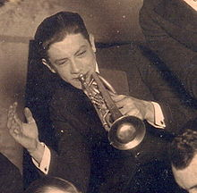 Emmett Hardy playing with the Carlisle Evan's Band in 1921