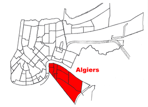 Location of Algiers within New Orleans