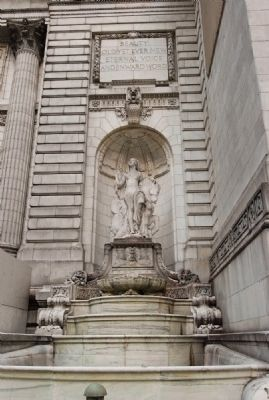 A fountain at the New York Public Library's main branch (image from Historic Marker Database)