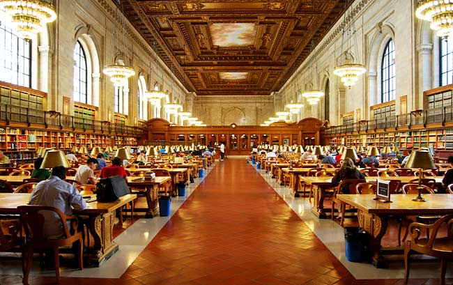 Rose Main Reading Room at the New York Public Library (Image from Paul_lowry/Flickr CC)