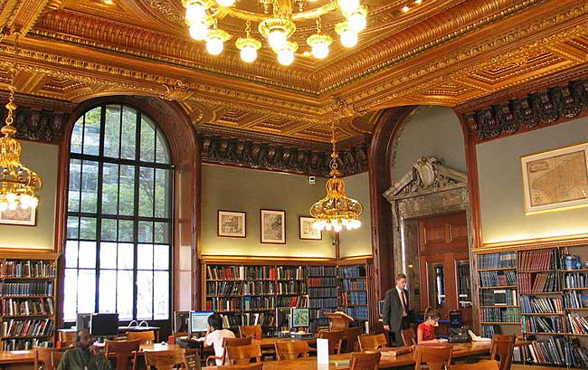 The Map Division Room of the New York Public Library (Image from GK tramrunner229/Wikimedia Commons)