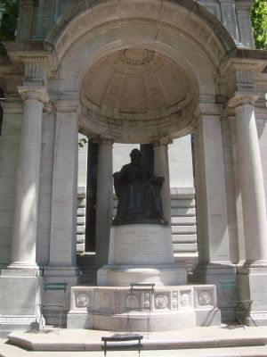 William Cullen Bryant memorial, Bryant Park (image from Historic Markers Database)