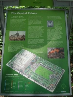 The Crystal Palace marker, Bryant Park (image from Historic Markers Database)