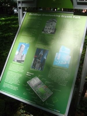Buildings Overlooking Bryant Park marker (image from Historic Markers Database)