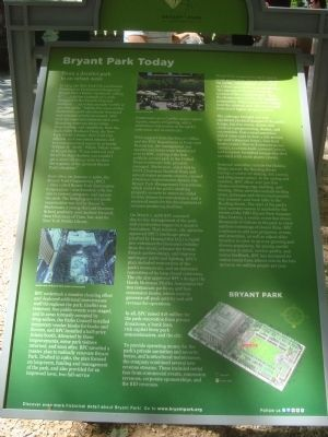 Bryant Park Today marker (image from Historic Markers Database)