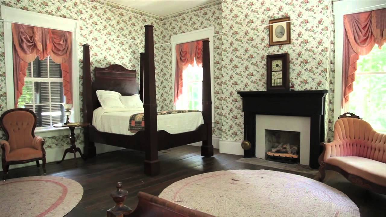 One of the period bedrooms at Rose Mont.