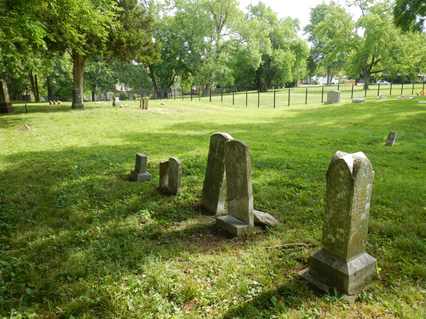 Undulations in the cemetery are the remnants of old wagon ruts