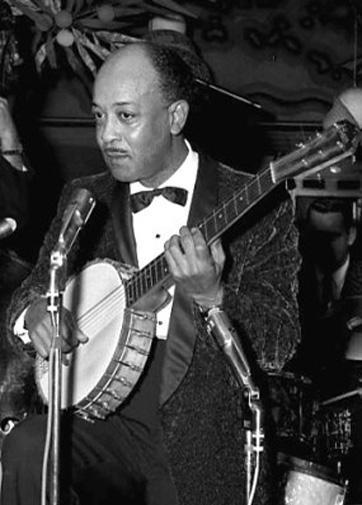 Danny Barker on the banjo, circa 1957