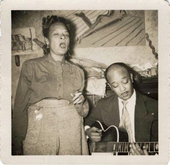"Danny Barker and Louise ""Blue Lu"" performing together"