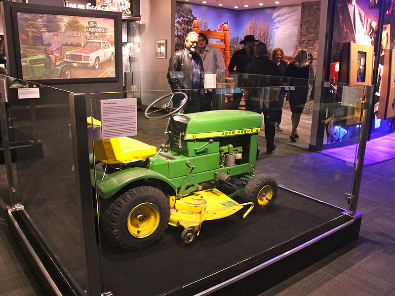 The John Deere lawn mower similar to the one driven by Jones in search of liquor.