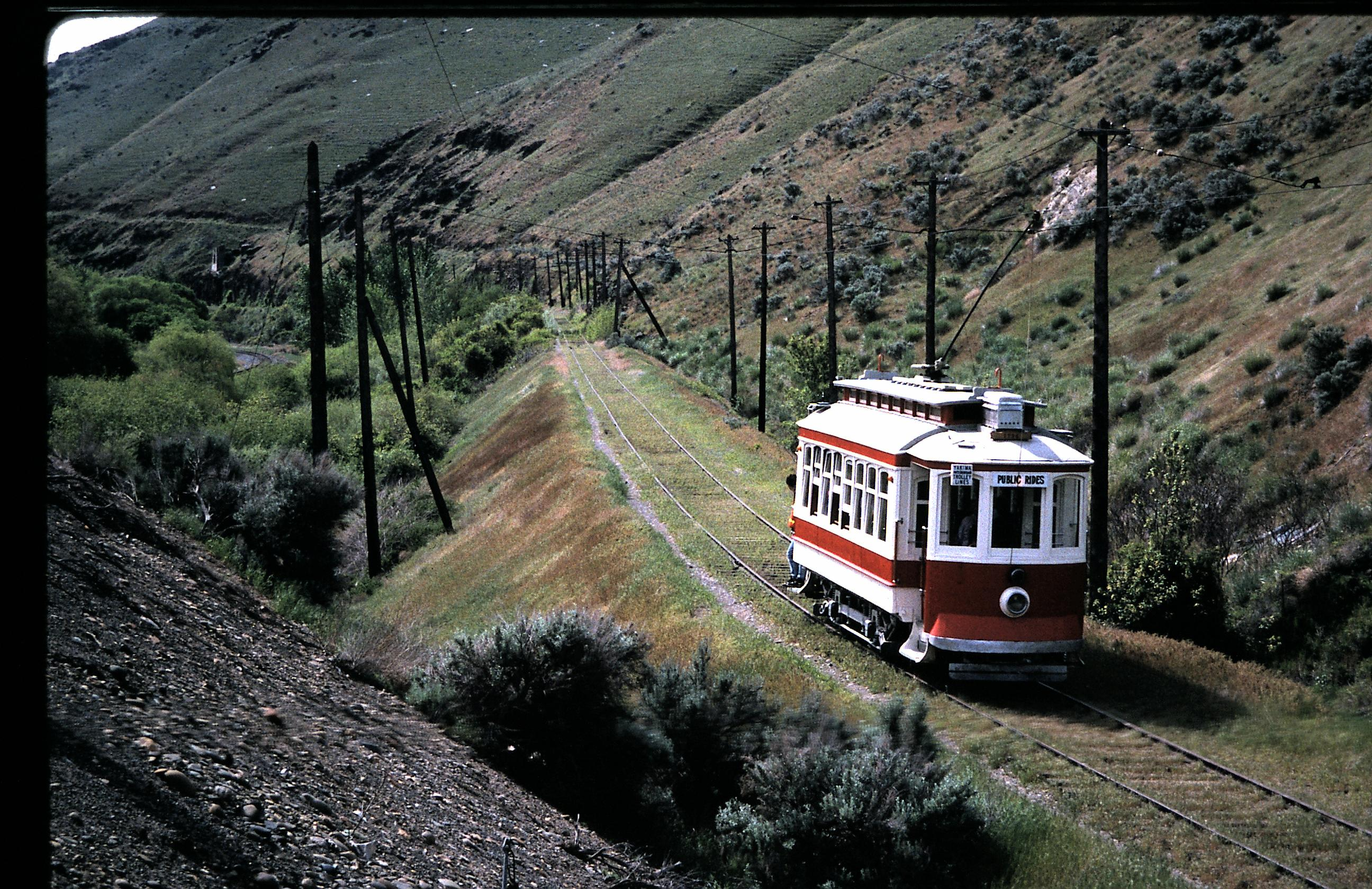 Another streetcar rides along one of the museum's two routes
