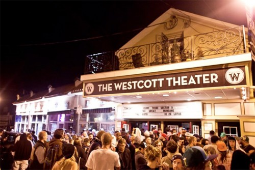 This is what the Westcott Theater looks like today (as of 2016).