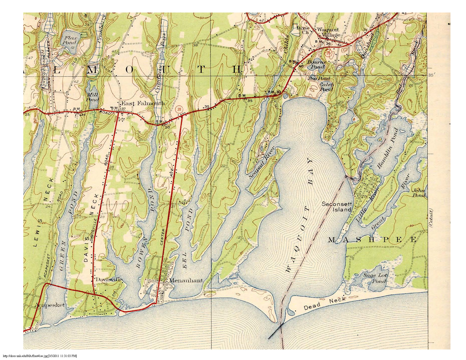 1927 map depicting the same area.