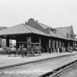 The depot built in 1912, which now houses the museum.