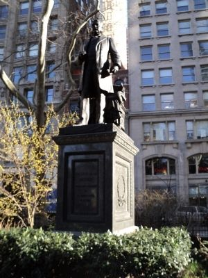 The Chester Alan Arthur monument in Madison Square was dedicated on June 13, 1899. Arthur (1830-1886) was the 21st President of the United States.