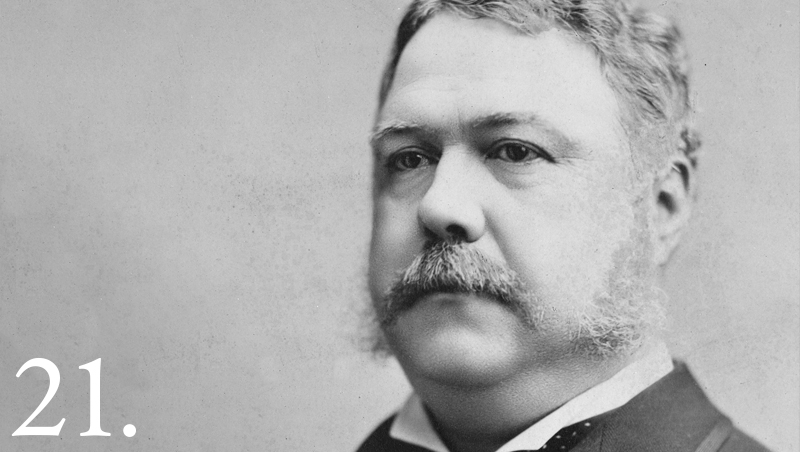 Chester Alan Arthur (image from The White House)