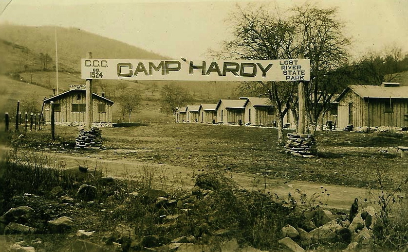 Camp Hardy where the CCC lived while working on the park