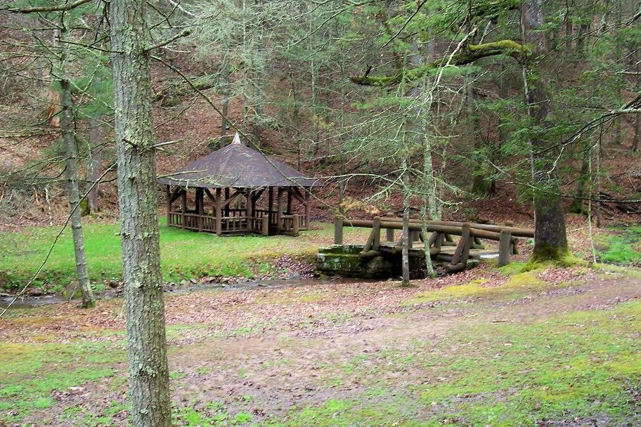 Shelter covering Lee Sulphur Spring, built by the CCC