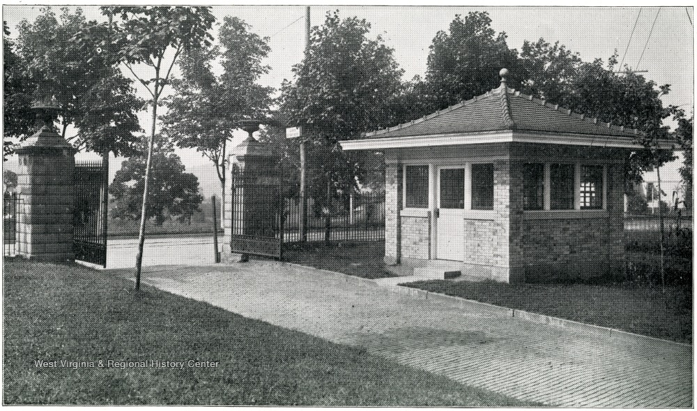Entrance to the hospital grounds, 1912