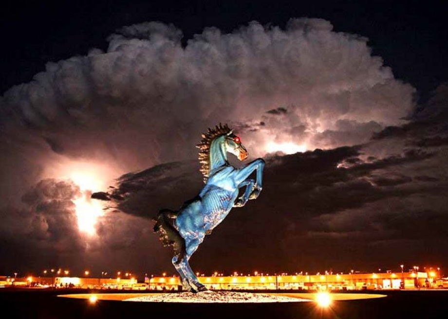 Blue Mustang Statue. Photo by Eric Golub.