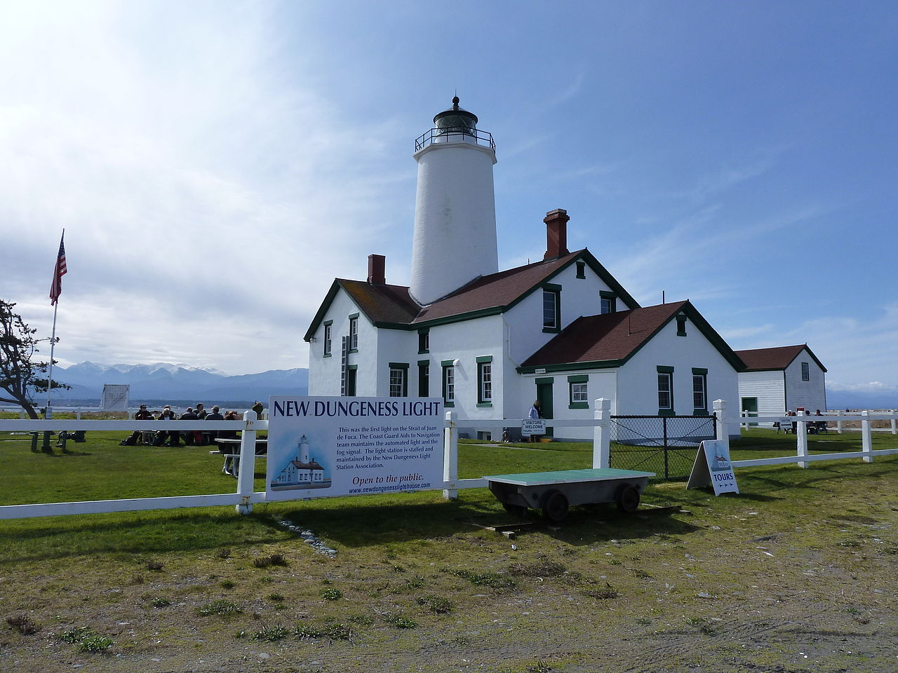 The New Dungeness Lighthouse was built in 1857, becoming the first lighthouse built on the Strait of Juan de Fuca and second one built in Washington.