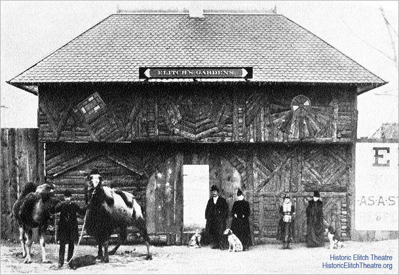 1890 original entrance of Elitch Gardens